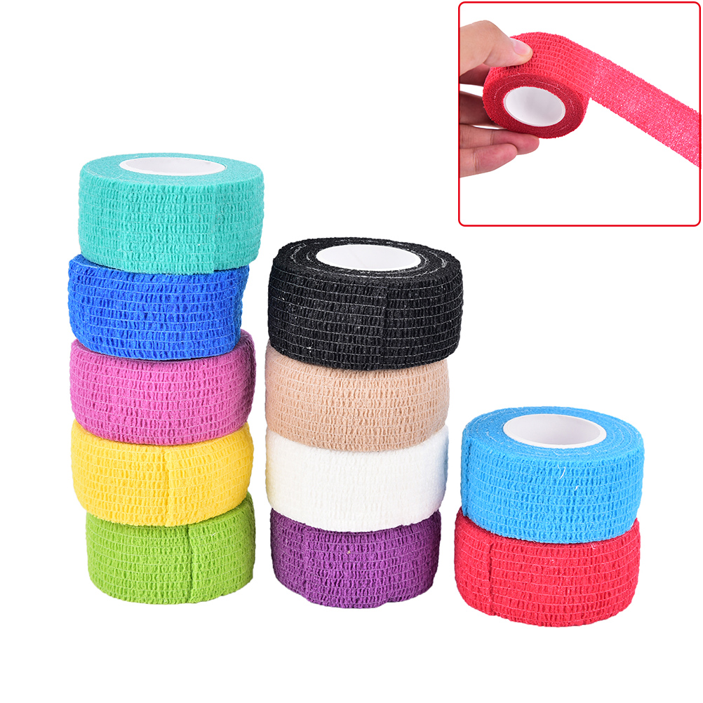 2.5m x 4.5cm Self-Adhering Bandage Wraps Elastic Adhesive First Aid Tape Women Men Gym Bodybuild Workout Fitness Support image