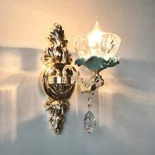 Европейский фон для гостиной, настенный светильник для спальни, Хрустальный настенный светильник, настенный светильник, прикроватный светильник для ванной комнаты