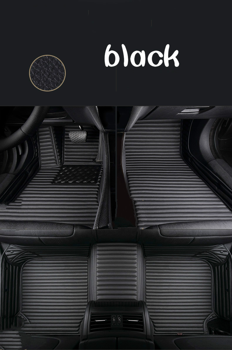 Custom full covered special car floor mats for Nissan Patrol Pathfinder NV200 sylphy qashqai Tiida 5seat waterproof durable rugs