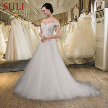 SuLi Z-008 Princess Short Sleeves Backless Wedding Dress