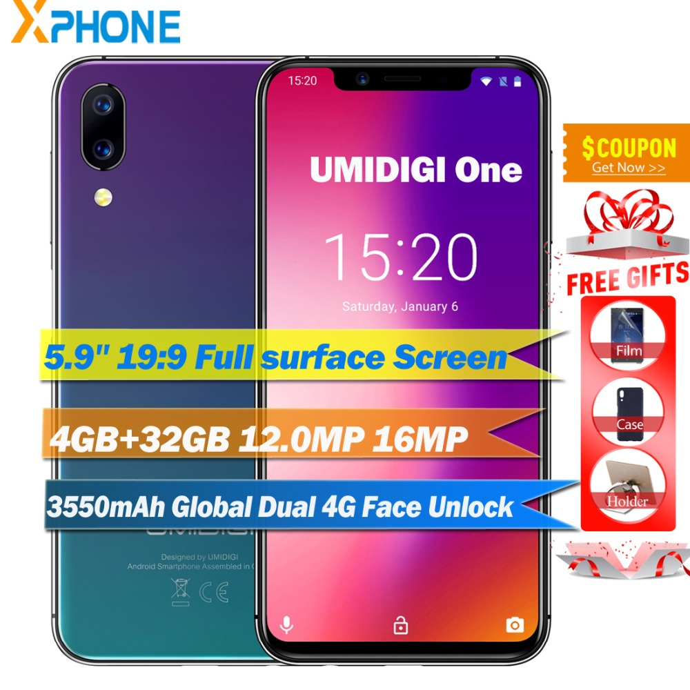 """UMIDIGI ONE Global 4G 5.9"""" fullsurface Phone Android 8.1 P23 Octa Core 4GB 32GB 12MP+5MP 16.MP Camera Dual 4G Smartphone-in Cellphones from Cellphones & Telecommunications    1"""