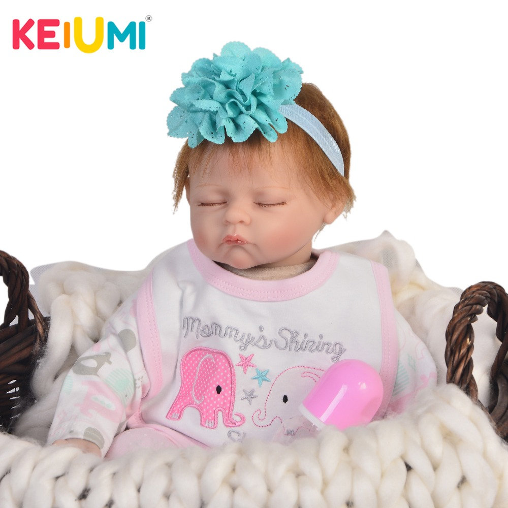 55 cm Lifelike Sleep Doll Reborn Silicone Boneca Vinyl Newborn Dolls Toy Girl 22 Fashion Reborn Babies Cloth Body Child Gifts55 cm Lifelike Sleep Doll Reborn Silicone Boneca Vinyl Newborn Dolls Toy Girl 22 Fashion Reborn Babies Cloth Body Child Gifts
