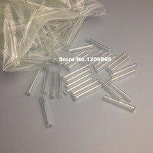 200 pçs/lote 7*30mm Mini Laboratório tubo de ensaio de vidro Pequeno ductule canaliculus Fermentação tubo Lab Consumíveis Frete Grátis