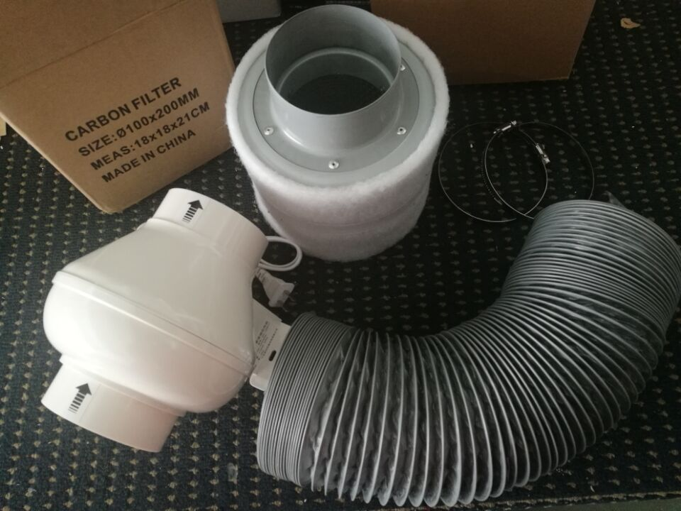 4 Quot Inline Exhausting Fan Amp Carbon Air Filter Amp Ducting For