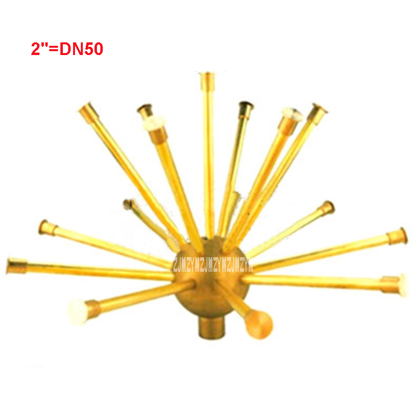 New Arrival 2 DN50 Hemisphere Dandelion Brass Fountain Crystal Ball Nozzle Sprayer Head Spray Pond 80 100Kpa Water Spray 1.8m