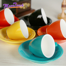 70ml Espresso Coffee Mug High-grade Ceramic Cup Dish Set Macaron European Style Cappuccino Milk Cups Latte Drinkware