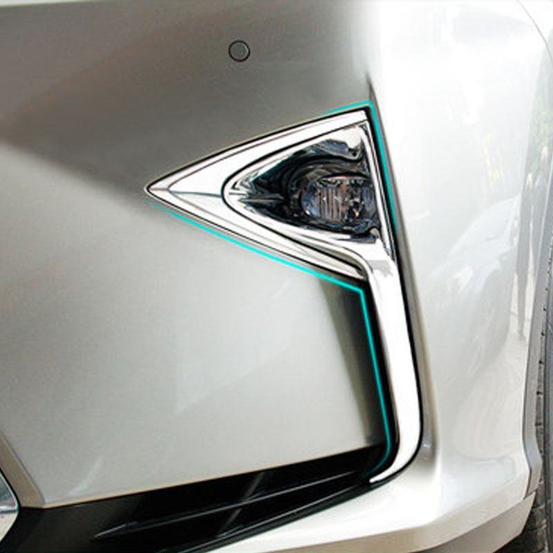 ForLexus RX200t RX450h before and after the fog light decorative frame ABS plating material lamp modified special accessories before the incal