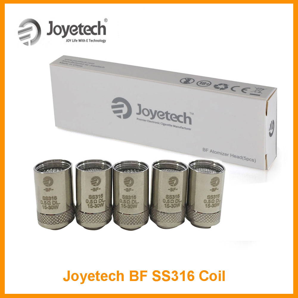 Original Joyetech eGO AIO BF SS316 Atomizer Head Replacement <font><b>Coil</b></font> <font><b>0.5</b></font> or 1.0 <font><b>ohm</b></font> Temp eGO AIO Atomizer core Electronic Cigarette image