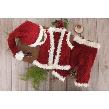 Hot Sale Santa Claus Romper Bonnet Set Red Fairy Pant and Bonnet Baby Girl Bonnet Christmas Outfit Newborn Boy Overall Set фото