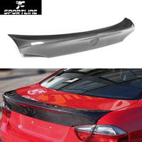 Car Styling Carbon Rear Trunk Spoiler Lip Wing For BMW 330i 335i 3 Series E90 2005 2009