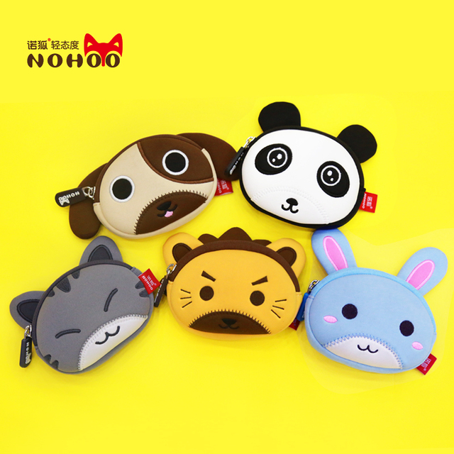 NOHOO 3D kids mini Wallets small Coin Purse money bag soy luna coin purse stitch lilo hello kitty paris purses portafoglio donna