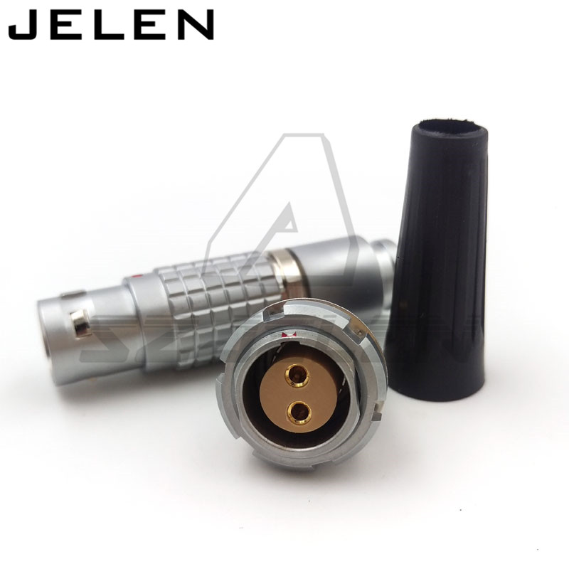 Compatible LEMO 2 pin connector,  FGG.2B.302.CLAD**Z ,ECG.2B.306.CLL  15mm Panel Mount Connectors Plugs and sockets rated 10A lemo 1b 6 pin connector fgg 1b 306 clad egg 1b 306 cll signal transmission connector microwave connectors
