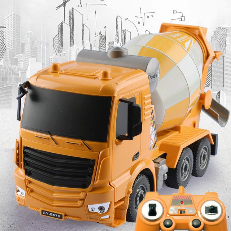 2.4G Radio Control RC Excavator Remote Control mixer agitates For Kids Gift Toys