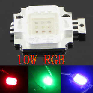 1-100pieces /LOT 10W LED chip Integrated High power Lamp Beads 10W RGB 300mA RGB red 32mli blue 35mli gree 35mli LED RBG chip