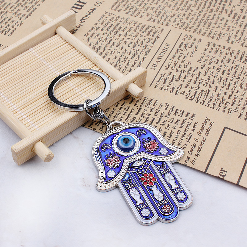 2017 Fashion Key Chain Hamsa Keychain, Evil Eye Keychain, Evil Eye Jewell, Oil Drop Hamsa Hand Keychain Evil Eye Pendant