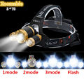 New 8000LM LED Headlamp 3xCREE XML T6 4 Modes 3T6 Zoomable 18650 Headlight Head Lamp For Hunting Camping