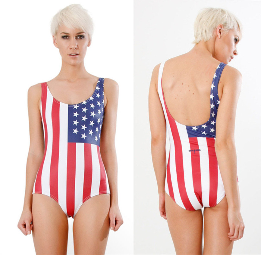 3d0fa93a4b57a Buy american flag one piece swimsuit and get free shipping on AliExpress.com