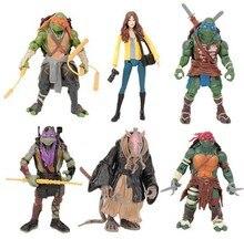 Action Figure Children Teenage Mutant Ninja Turtles Toys 2015 New Turtles Action figure TMNT 1 set of 6 dolls KidsToy