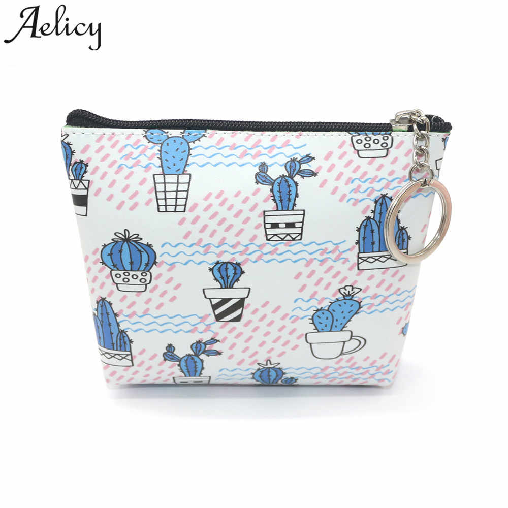 Aelicy bags for women 2018 Girls Flower Printing Snacks Coin Purse Wallet Change Pouch Key Holder Cluth Zipper Handbags mujer