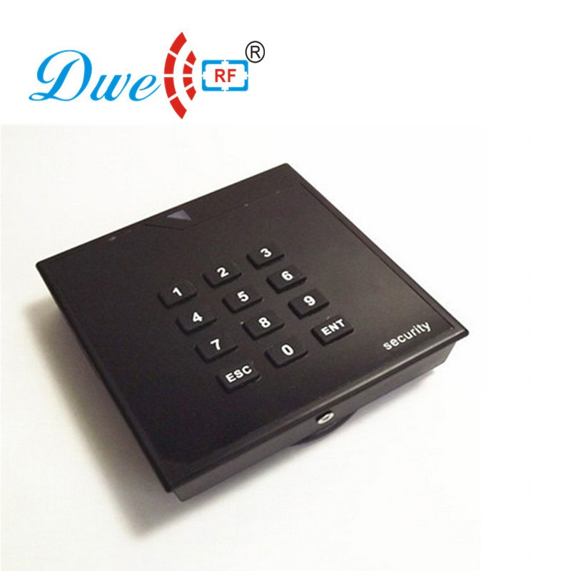 DWE CC RF RFID card reader 125khz emid 13.56mhz mf weigand 26 or 34 waterproof proximity range reader outdoor mf 13 56mhz weigand 26 door access control rfid card reader with two led lights