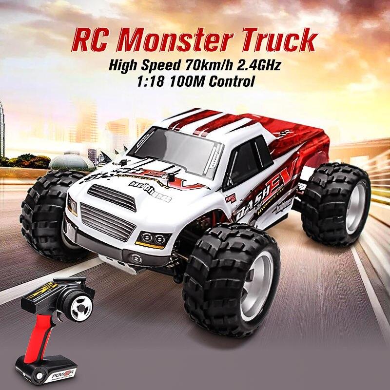 WLtoys A979-B 4WD 1/18 Monster Truck 1:18 RC Auto Ad Alta Velocità 70 km/h con Trasmettitore Con Batteria RTR Telecomando giocattoli
