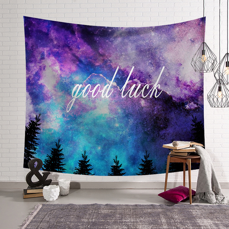 Forest Starry Sky Hanging Wall Tapestry Hippie Retro Home Decor Background cloth Yoga Beach Mat 150x130cm 150x100cm in Tapestry from Home Garden