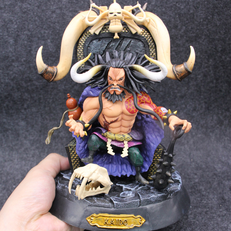 Anime One Piece Kaido Four Emperors 23cm PVC Action Figure Model Doll Toys anime one piece ainilu handsome action pvc action figure classic collection model tot doll