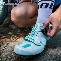Santic Kadınlar Bisiklet Yol Ayakkabı Dantel-up Bisiklet Atletik Yarış Ekibi Bisiklet Ayakkabı Nefes Bisiklet Giyim MTB Ayakkabı LS17006