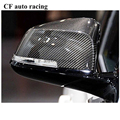Ace speed Replacement carbon fiber rear view side mirror cover caps for 2012-14 BMW carbon fiber F20 F22 F23 F30 F32 F33 X1 E84