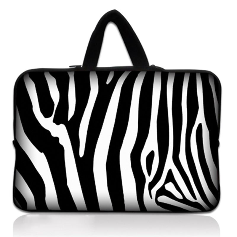13 13.3 zebra computer bag for notebook Neoprene laptop sleeve case pouch for lenovo YOGA 3 Pro-I5Y70 / Alienware 13 For Dell