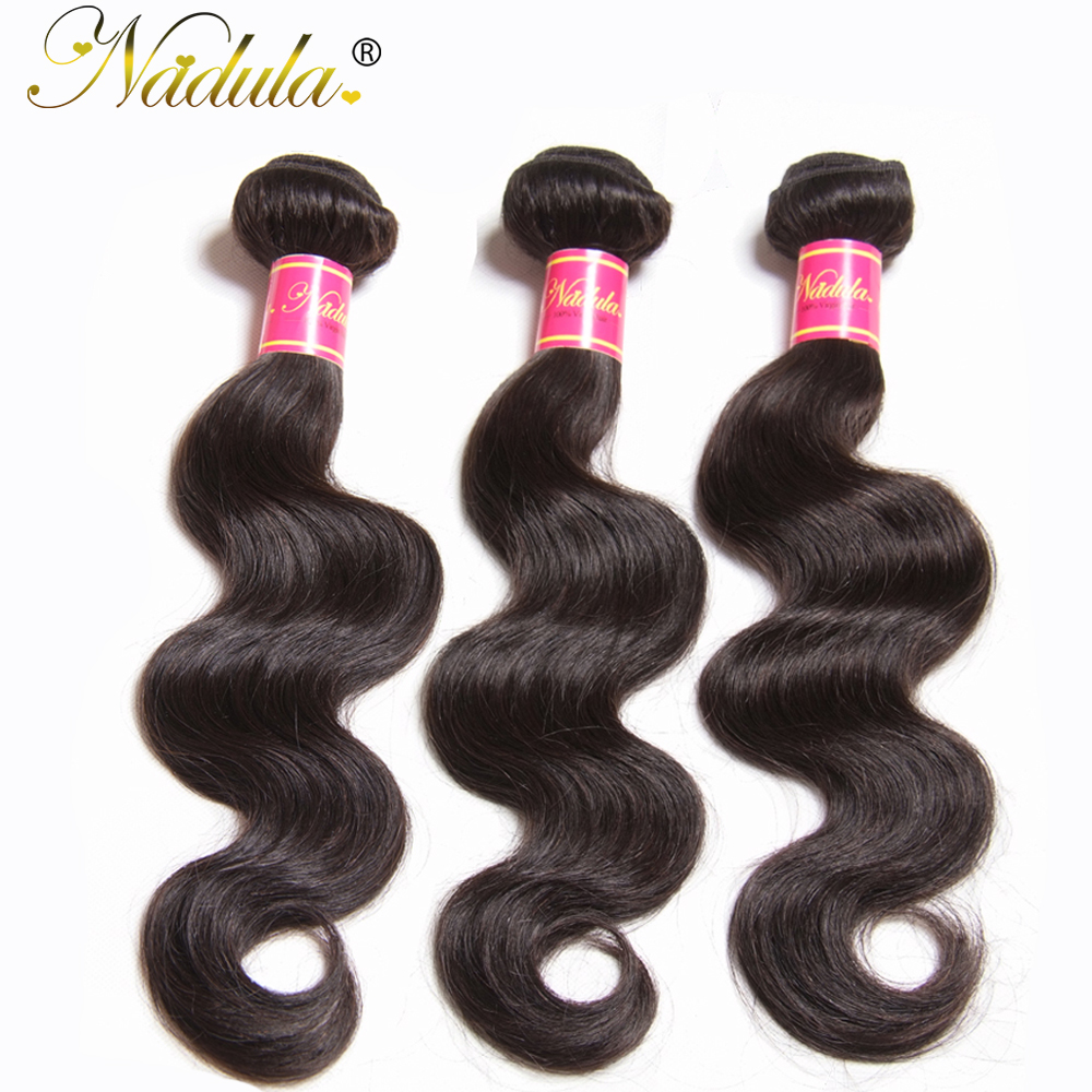 Nadula Hair Extensions Indian Body Wave Hair Weave Bundles Non Remy Hair 100% Human Hair Products Natural Color Can Be Mixed