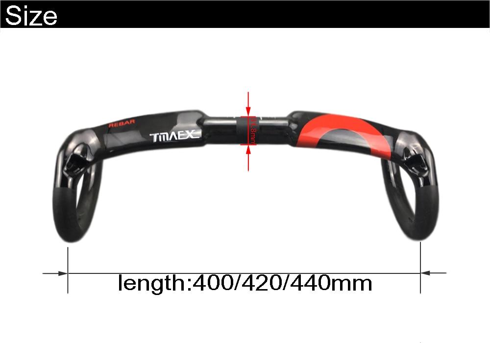 Full Carbon Handlebar Road Bicycle Outside Routing 3k Matt 31.8 400//420//440mm