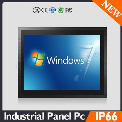 Industrial Silver Black 12 Inch TPC-1012-E3845J1900 Full Touch Screen Quad Core Embedded Computer