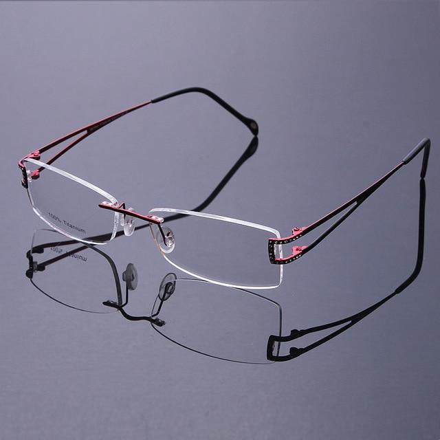 Новый 2016 Мода Высокого Класса Сверхлегкий Titanium Гибкие Очки Без Оправы Кадров мужчины женщины Нет Объектив рамка с очки