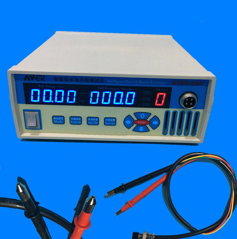 Intelligent Battery Resistance Tester 18650 Battery Internal Resistance Pairing Spectrometer with metal head test pens  220V intelligent alarm tester precision internal resistance tester battery voltage internal resistance rapid detection