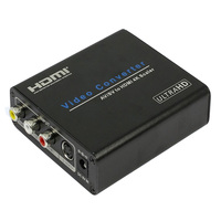 composite RCA Av to HDMI UHD Converter scaler with S video inputs up to 4kX2k&1080P output supported