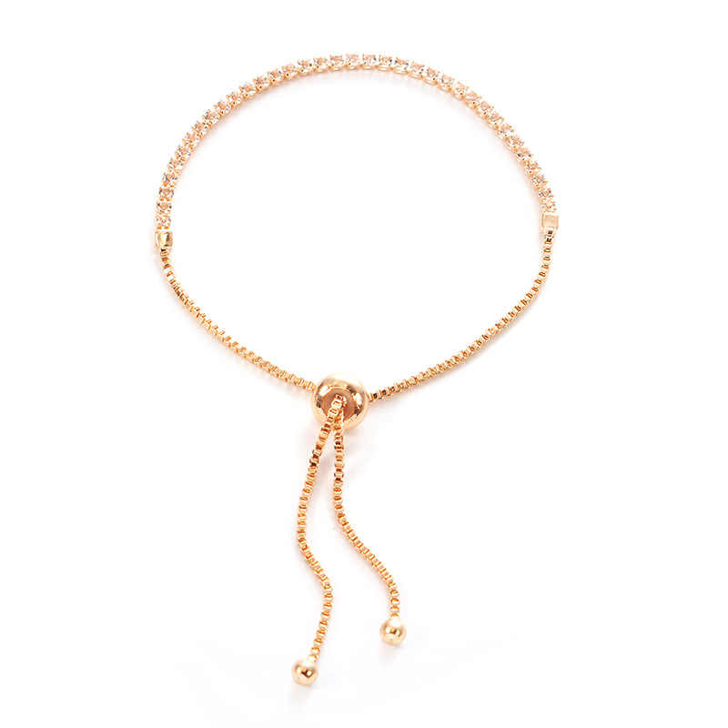 قابل للتعديل تنس ستراند أساور للنساء AAA زركون الفضة سلسلة ماركة الإسورة و سوار فام مجوهرات الزفاف