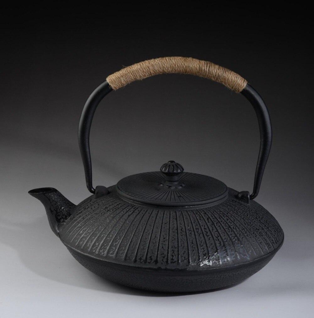 Théière en fonte ensemble japonais théière Tetsubin bouilloire 1200 ml Kung Fu infuseurs chinois Kung Fu outils de boisson offre spéciale authentique