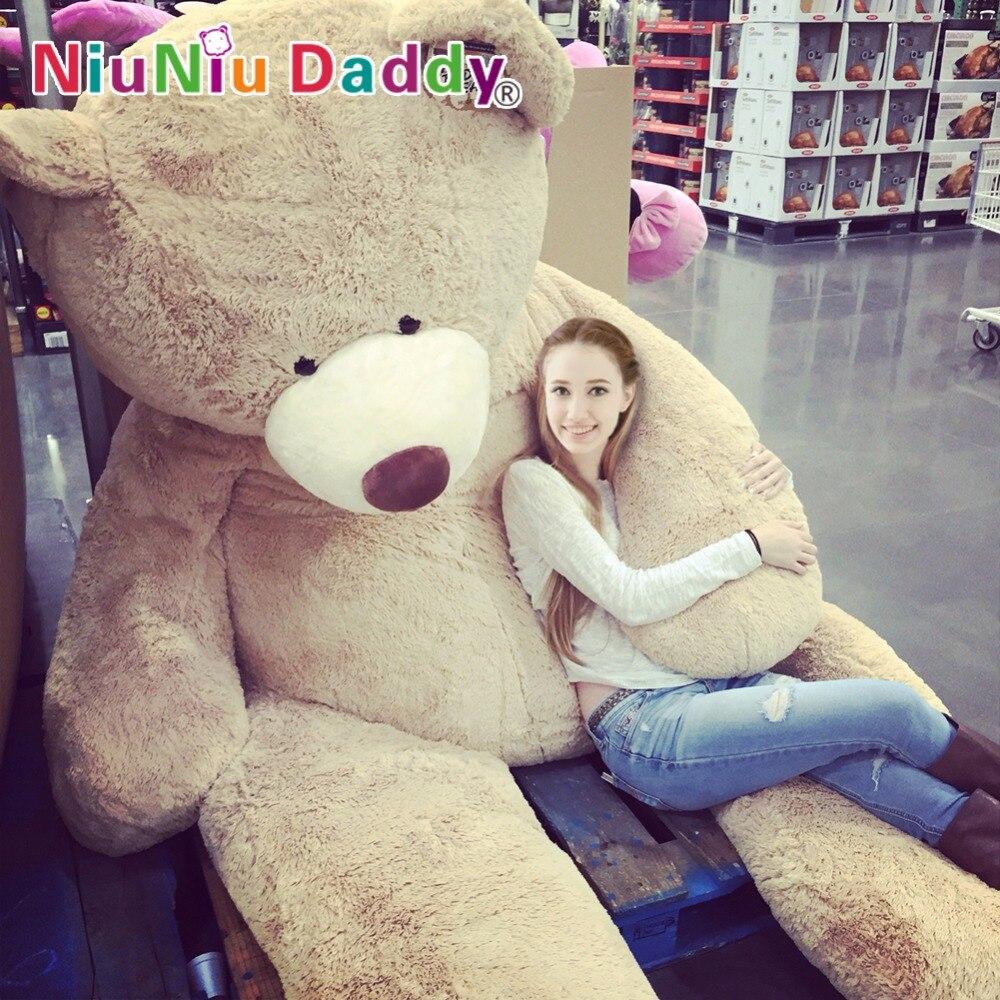 260 cm USA ours en peluche peau énorme ours coquille manteau en peluche jouet #