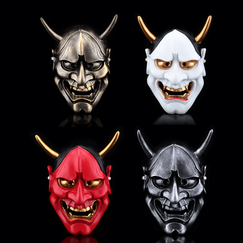 High-grade Buddha Prajna Resin Masks Halloween Devil Full Face Scary CS Wargame Field Game Japanese Cosplay Masquerade Party