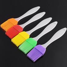 LanLan Пищевая силиконовая щетка с прочной ручкой PP для муссов и десертов, шоколадного мороженого, кондитерских изделий, инструмент для выпечки, случайный цвет