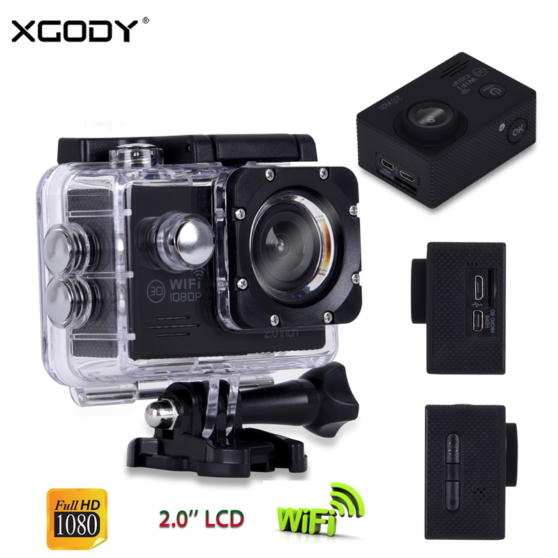 XGODY H16 2.0 Waterproof DVR Sport Camera 30m Wifi Remote Control Action Dash Cam 1080P Full HD Loop Recording Video Camcorder