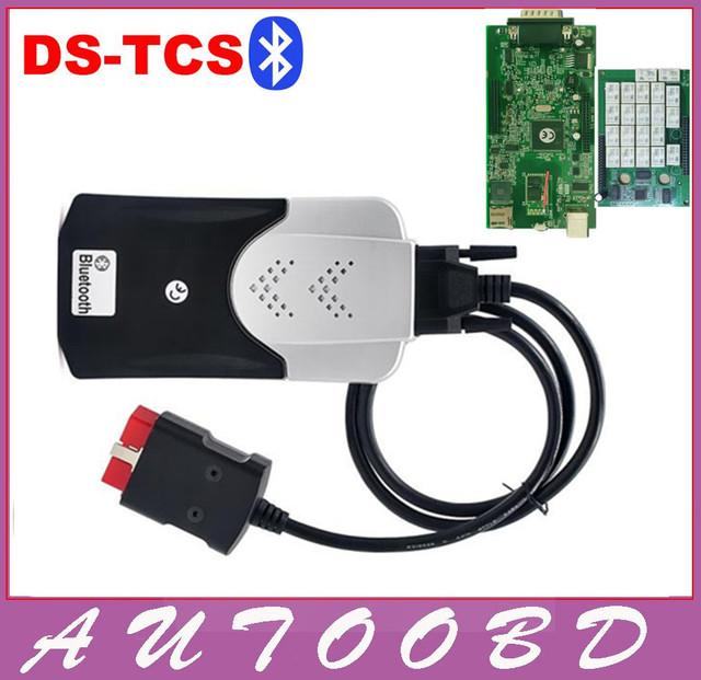 Novo Vci 2014R2 com Keygen Novo Relé CDP com Bluetooth Car caminhões OBD2 Ferramenta de Diagnóstico TCS CDP Pro Plus Placa PCB Verde Scanner