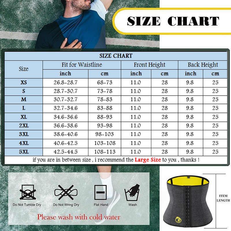 NINGMI Neopreen Man Shaper Mannelijke Taille Trainer Cincher Corset Mannen Body Modellering Riem Tummy Afslanken Band Fitness Shapewear S-5XL