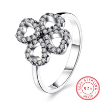 925 Sterling Silver Ring Trendy Women S Rings Heart Shaped Petals Of Love Promise Rings Lover