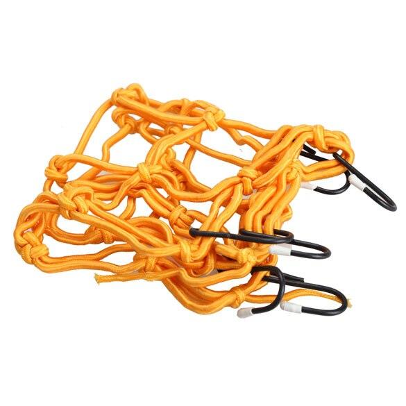 30*30cm Motorcycle Bike 6 Hooks Hold Down Fuel Tank Luggage Net Mesh Web Bungee Yellow Helmet Mesh Hot Sale