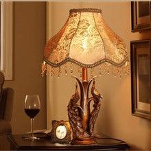 TUDA Free Shipping European Creative Double Peacock Table Lamp Living Room Table Lamp Bedroom Bedside Lamp Lighting Vintage Lamp