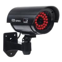 Großhandel 4 Stücke Outdoor Gefälschte/Dummy Überwachungskamera mit 30 Beleuchtung LED-Licht (Schwarz) Videoüberwachung