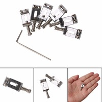 6 Pcs Guitar Bridge Saddle With Allen Wrenches For Electric Guitar Guitar String Replacement Bridge Musical