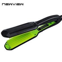 New Green Tourmaline Ceramic Straightening Irons Professional Hairstyling Portable Ceramic Hair Straightener Irons Styling Tool